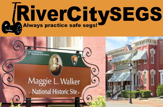 River City Segs logo and Maggie Walker House