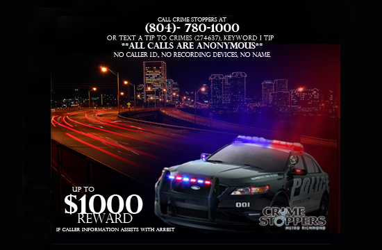 2013 Crime Stoppers Poster Contest winning design