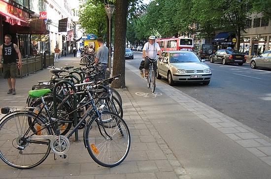 Complete Street in Stockholm