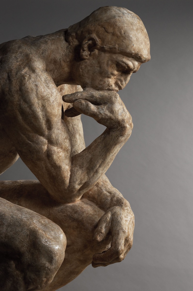 Auguste Rodin, The Thinker (large-size model), 1903, patinated plaster. © Musée Rodin, photo by Christian Baraja